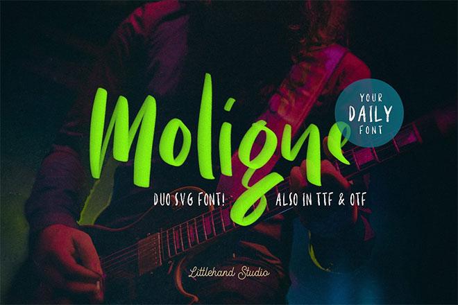 Moligne - SVG Font Duo