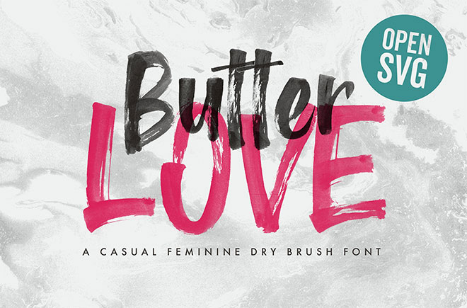 Butter Love - Opentype SVG Dry Brush