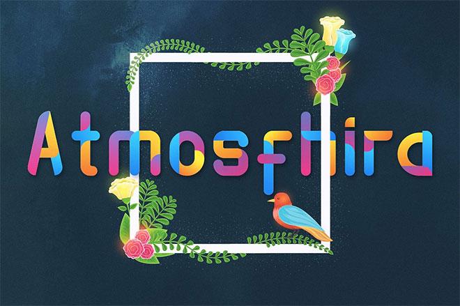 Atmosfhira Opentype SVG Colorfont