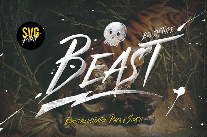 Beast SVG font & Graphics Pack