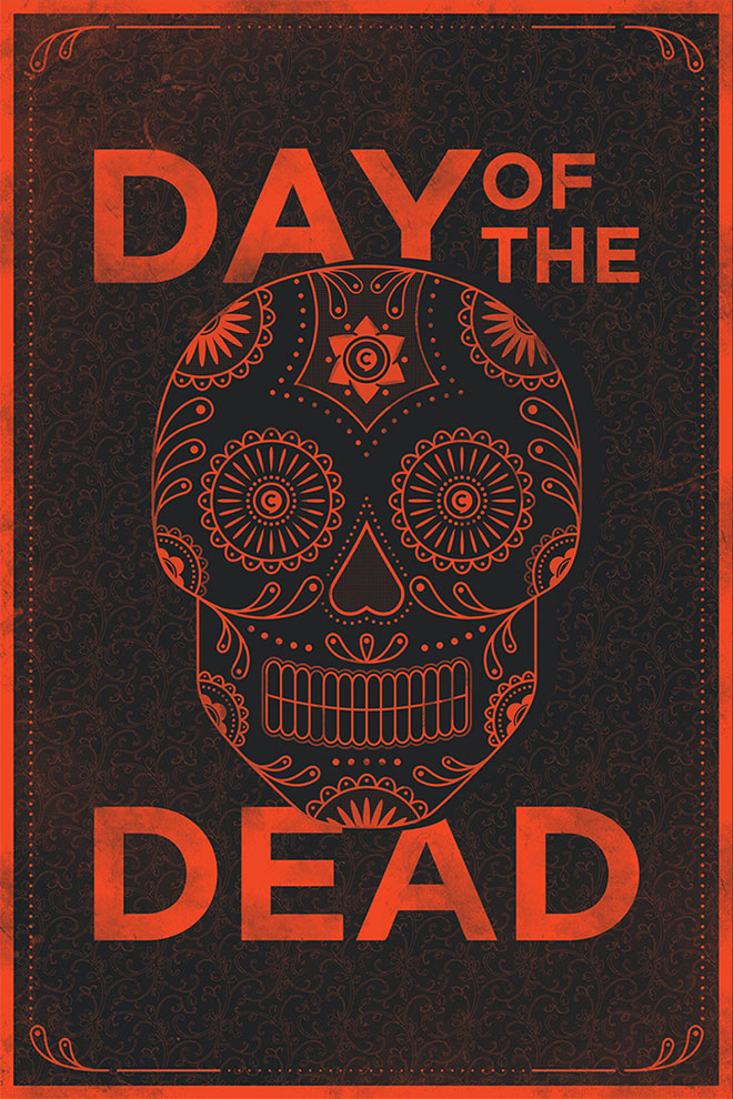 Day of the Dead Poster by Jamie McLennan