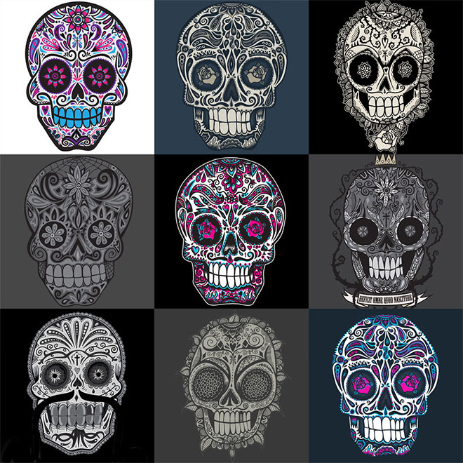 Sugar Skulls by Wotto Art