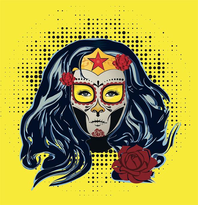 Super Heroe Catrinas by Paloma de Murga