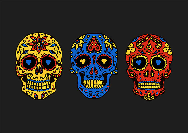 Day of the Dead Illustration by Oleksandra Ruth