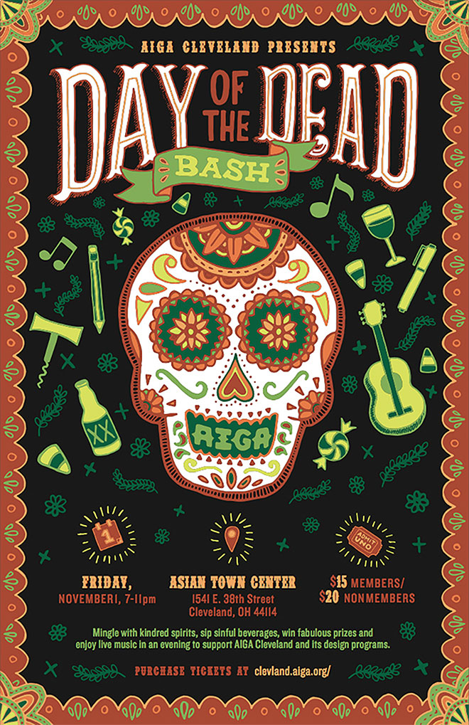 AIGA Cleveland's Day of the Dead by Lisa Lorek