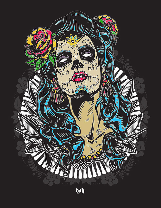 Day Of The Dead Prints by Darragh O'Hagan