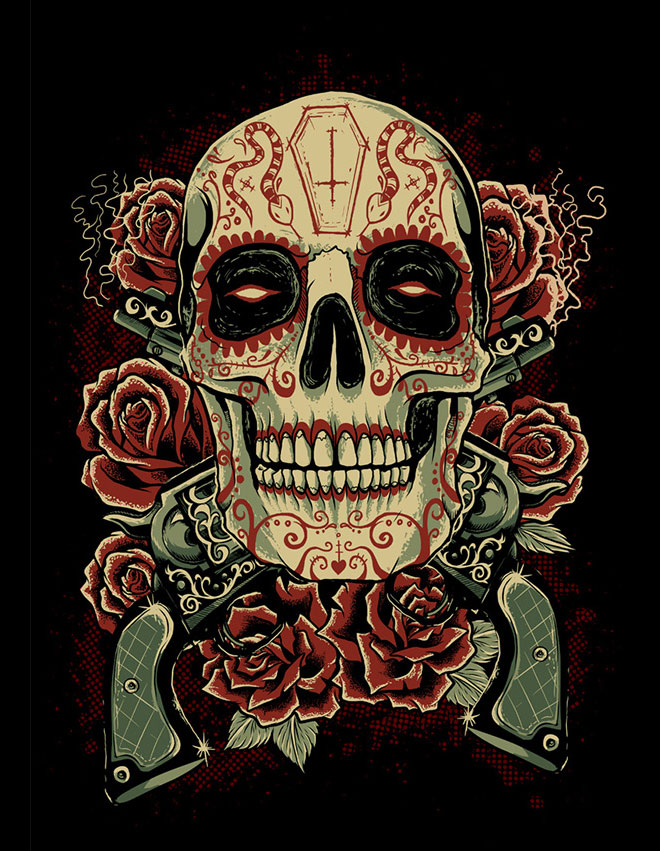 Sugar Skull by Evri Harvian