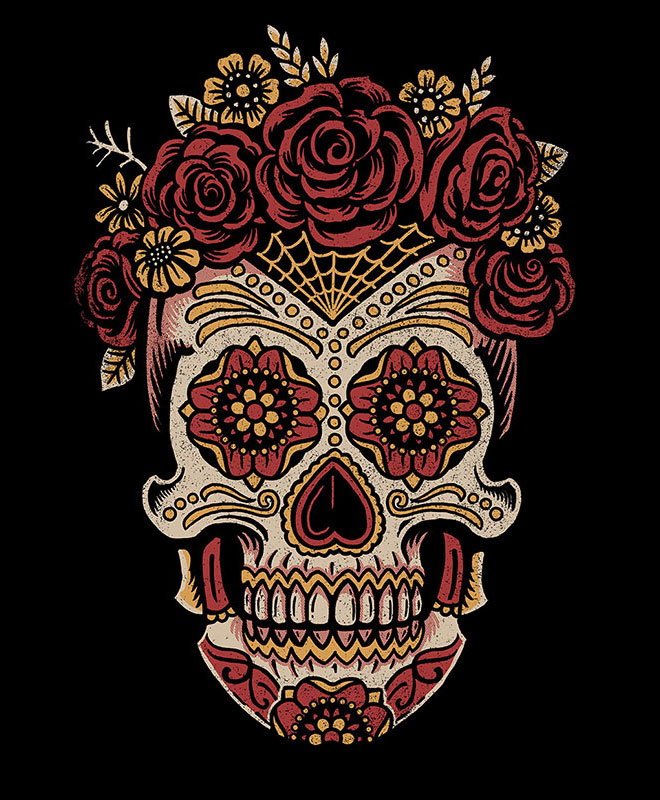 Saint Añejo Sugar Skulls by Derrick Castle