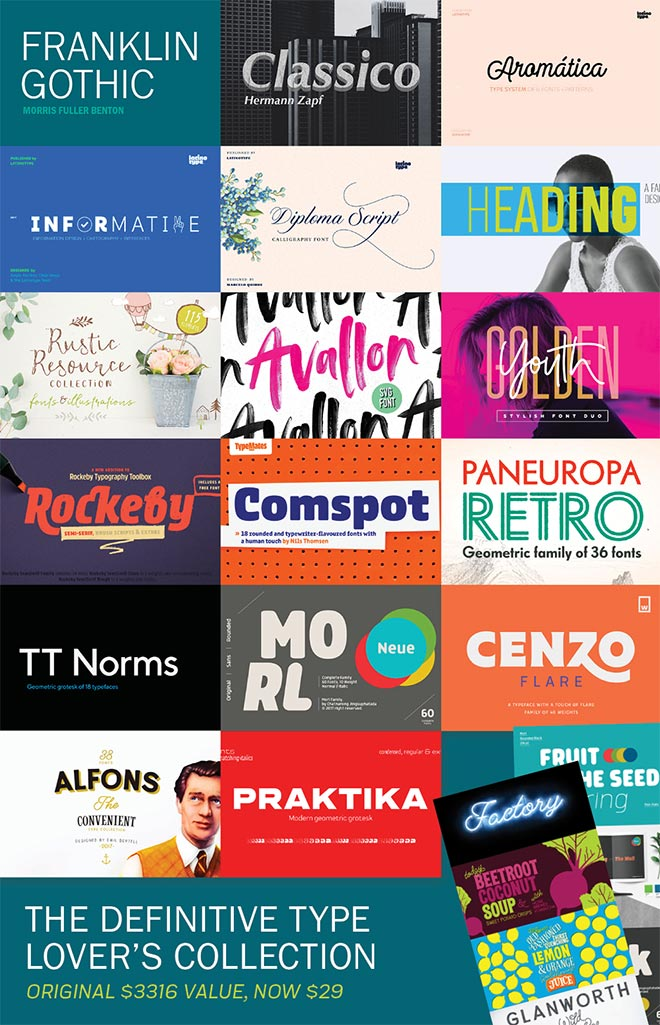 The Definitive Font Lover's Collection