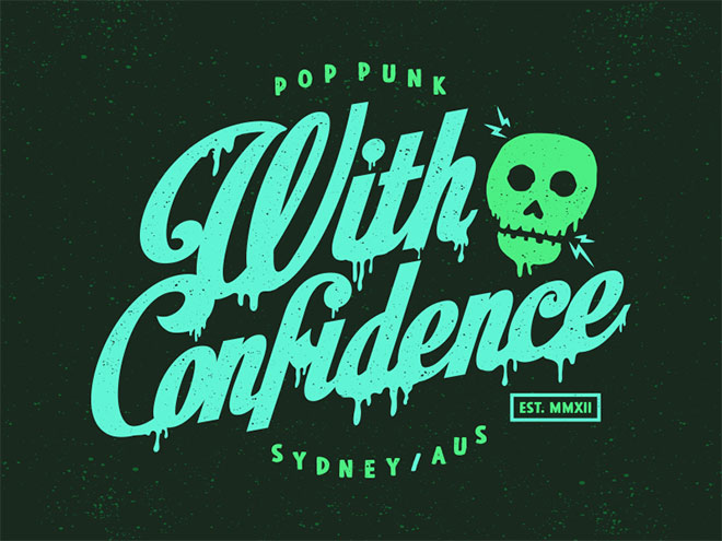 With Confidence Skull by Vinicius Gut