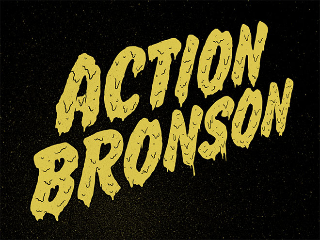 Action Bronson Drippy Letters by Jimmy Breen