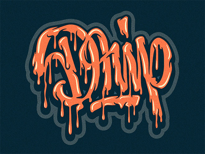 Drip Lettering by Mika Melvas
