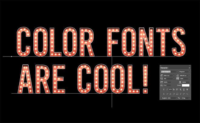 marquee letter font how to create a color font in photoshop using fontself 23578 | 14