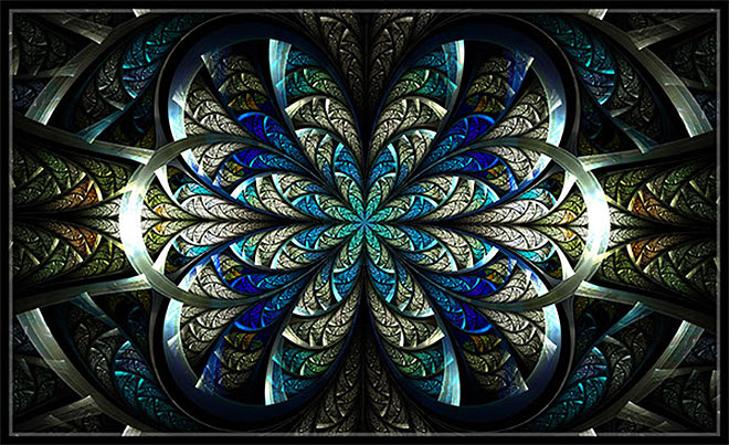 Stained Glass Fractals by Angela Bowen