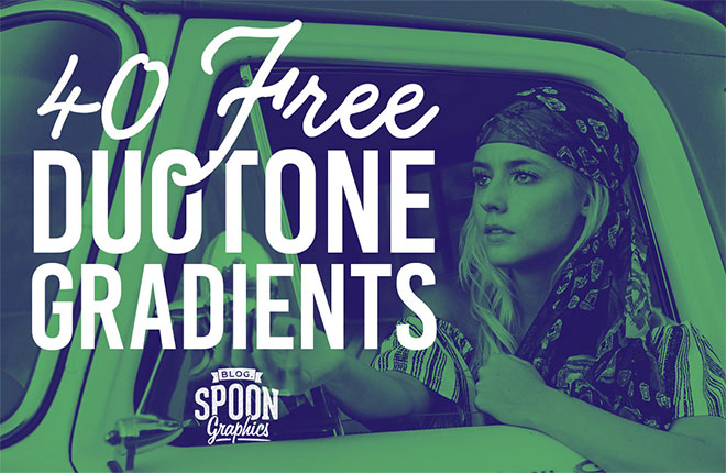 40 Free Duotone Gradient Presets for Adobe Photoshop