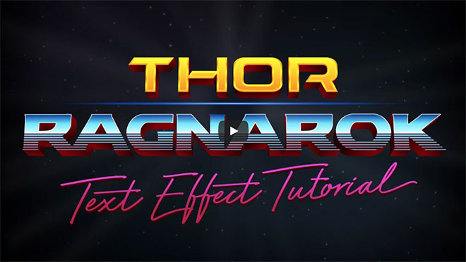 Video Tutorial: Thor Ragnarok Style Text Effect in Illustrator
