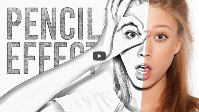 Video Tutorial: Pencil Sketch Drawing Effect in Adobe Photoshop