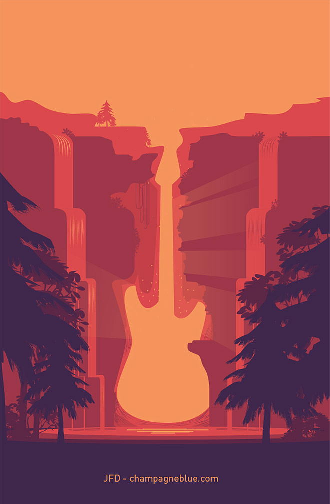 Landscape Illustration Vector Free: 35 Scenic Landscape Illustrations With Vibrant Colors