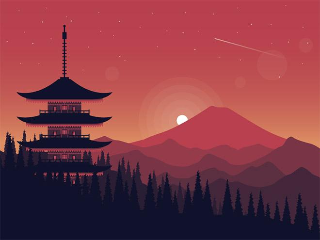 Ilustrasi Pemandangan Lanskap dengan Warna Kontras 30+ Ilustrasi Pemandangan Lanskap dengan Warna Kontras | Inspirasi Keren!