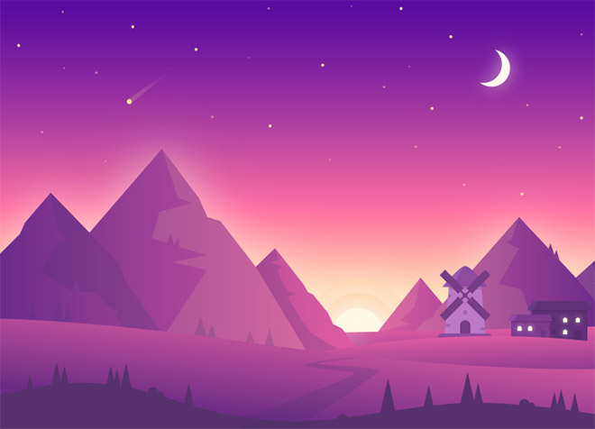 Landscape Illustration by Awesomed