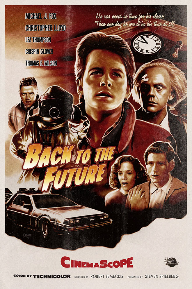 Back To The Future Poster (1955 Vintage) by Ralf Krause