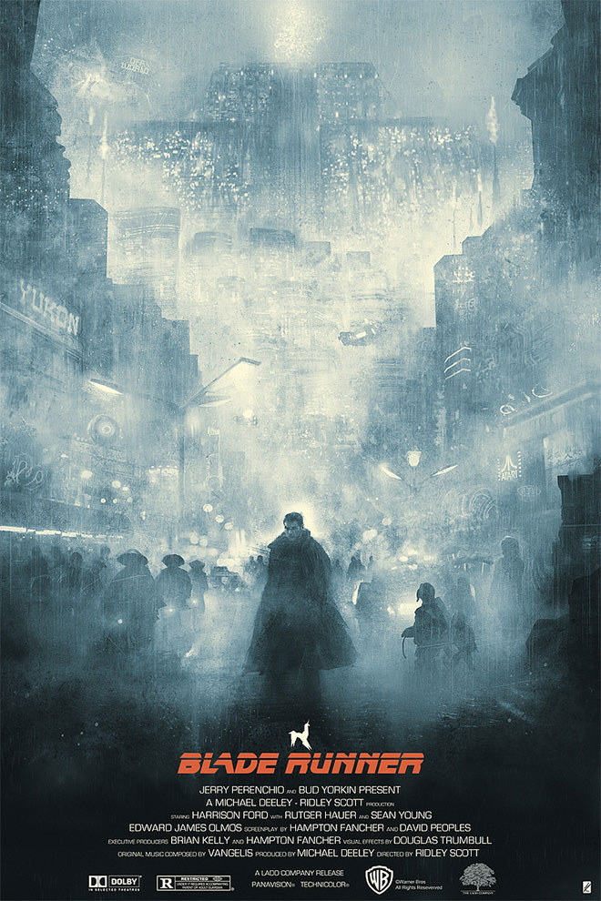 Blade Runner Film Poster by Karl Fitzgerald