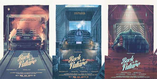 Back to the Future Trilogy Posters by Nicolas Alejandro Barbera