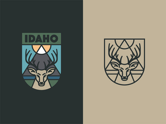 Idaho Badge by Alex Rinker