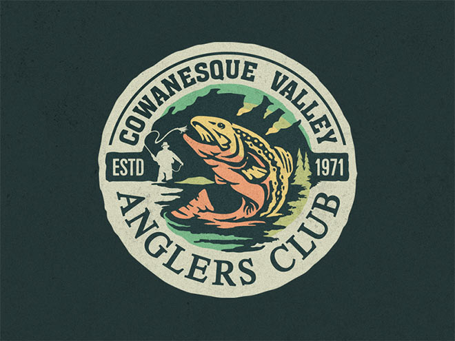 Cowanesque Valley Anglers Club Badge by Jesse LuBera