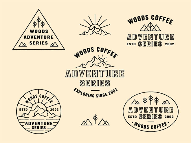Adventure Series Badges by Andrew Berkemeyer