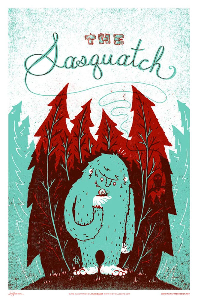 Monster Friends Sasquatch by Julian Baker