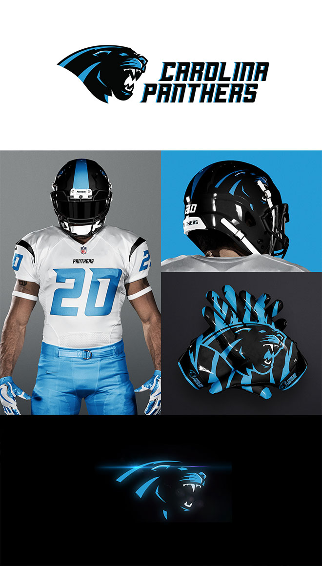 Carolina Panthers Rebrand by Brandon Williams