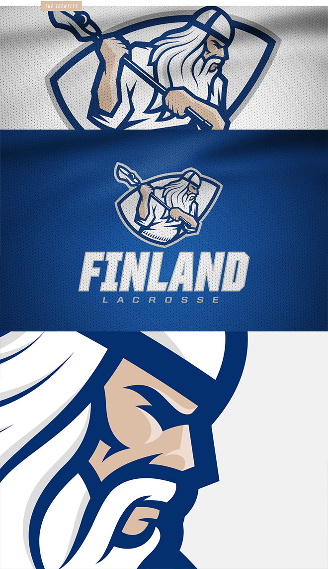 National Finnish Lacrosse Team Identity by Miika Kumpulainen