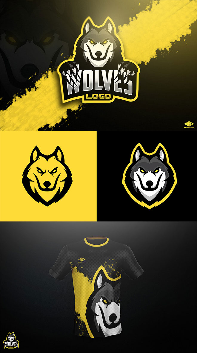 Wolves Mascot by Marko Berovic