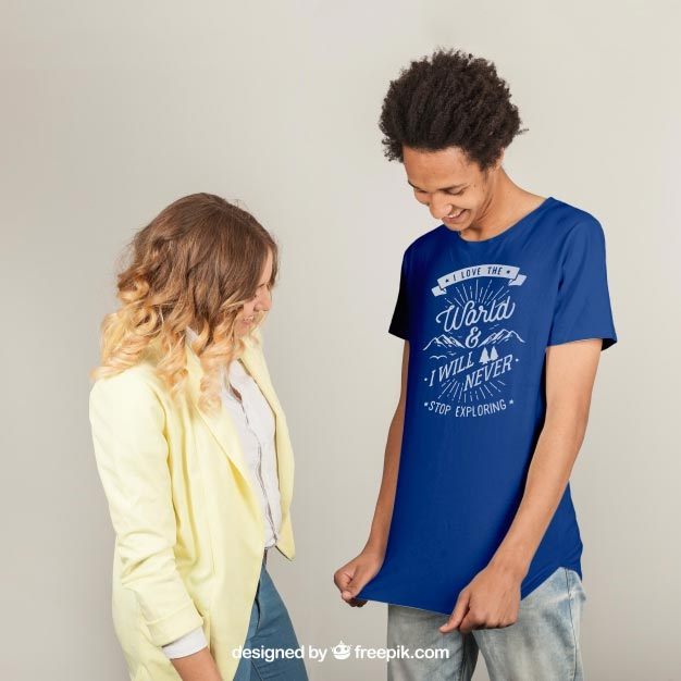 T-shirt print template Free Psd
