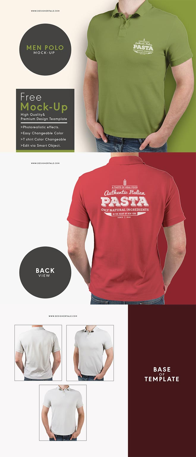 Get the free polo t shirt mock up template
