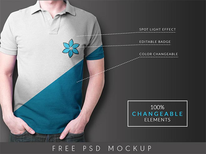 45 t shirt mockup templates you can download for free for Free polo shirt mockup