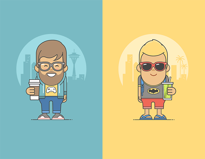 Benefits Illustrations by Arek Kajda
