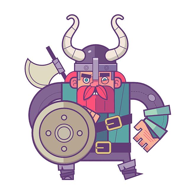 Brave Viking by Enrique Figueroa