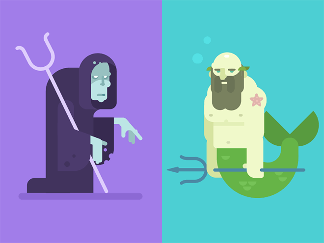 Hades and Poseidon by Gregory Hartman
