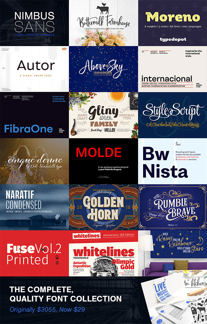 Save Over $3,000 With 99% Off This Quality Font Collection