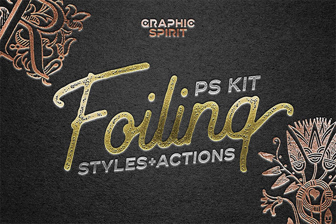 Foil Stamp Photoshop Style Actions