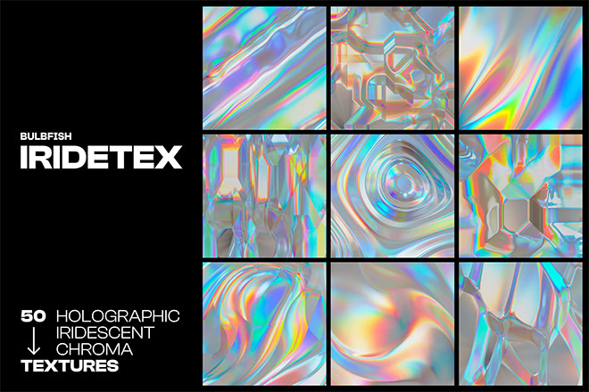 Holographic Iridescent Textures Pack