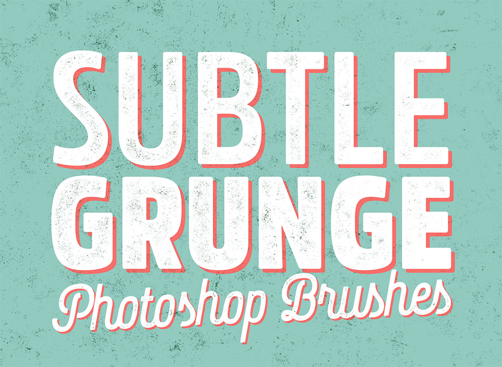 14 Free Subtle Grunge Texture Brushes For Adobe Photoshop