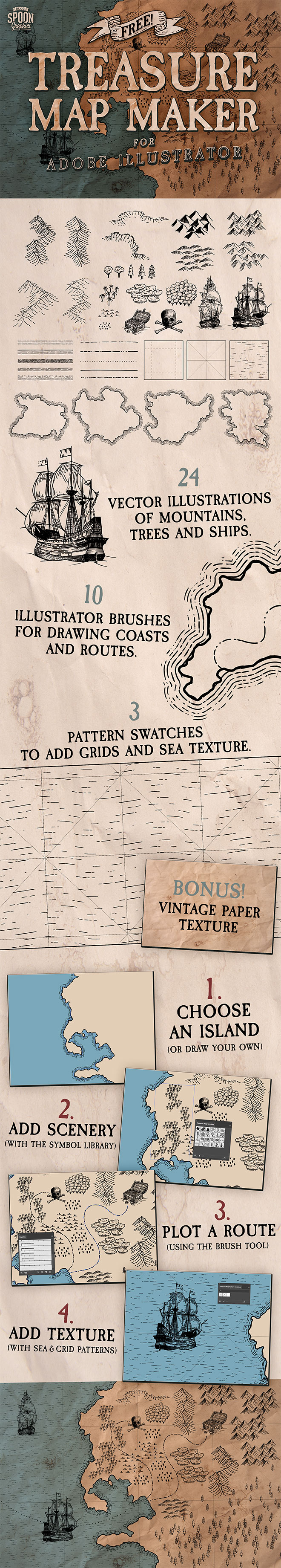 Download My Free Treasure Map Maker for Adobe Illustrator