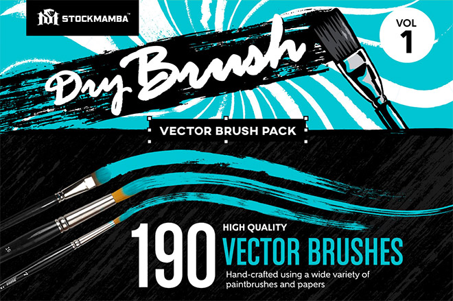 Dry Brush Vector Brush Pack