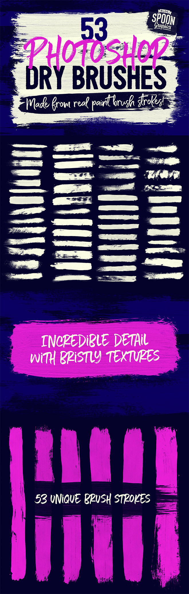 53 Free Photoshop Dry Brushes Made From Real Brush Strokes