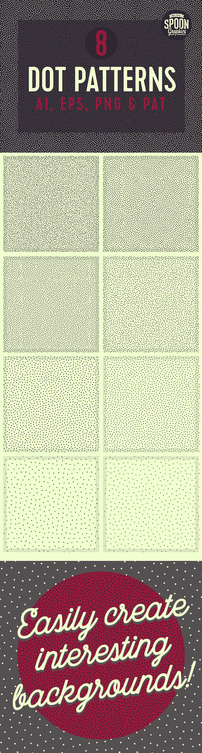 8 Free Seamless Dot Patterns in Vector, PNG & PAT Formats