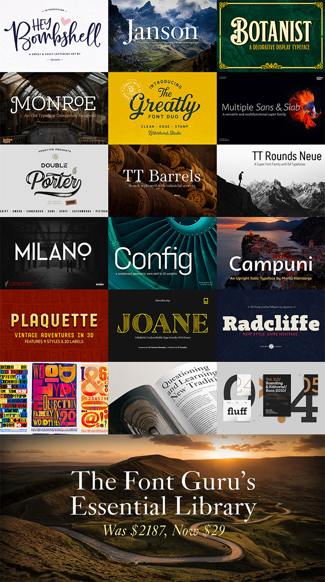 The Font Guru's Essential Library