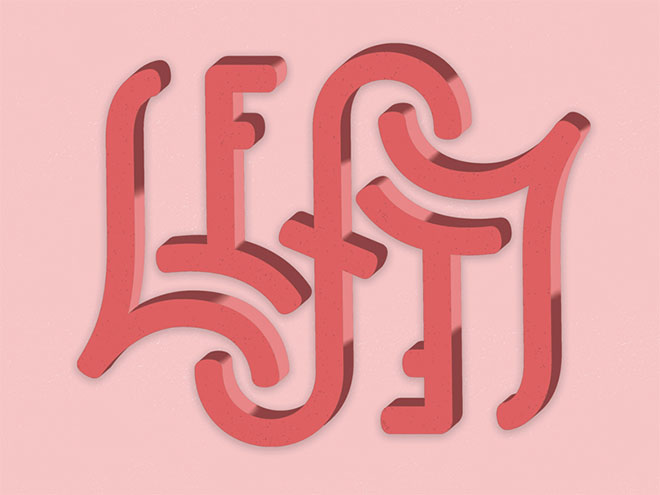Lefty Ambigram by Nikita Prokhorov
